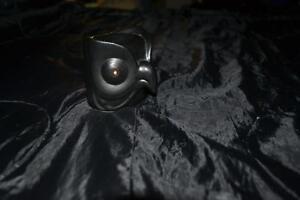 Meditation Black Owl Porcelain Tea Light Candle Holder Oil Incense Burner Hold