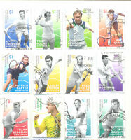 Australia-Tennis Legends set(12) 2016 fine used cto-Sport-Tennis
