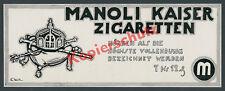 or. Reklame Manoli Zigaretten Wilhelm II. Kaiserkrone Insignien Adel Berlin 1915