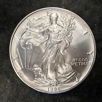 1993 Uncirculated American Silver Eagle US Mint Issue 1oz Silver BLEMISH #E675