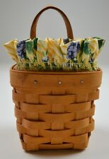 Longaberger 1997 Chive Basket Combo With Liner & Protector collectible Decor