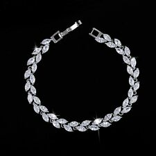 5.00 Carat Round Diamond Tennis Bracelet Handmade 14k White Gold Toned Earrings