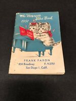 Vintage Mid Century 1951 The Norcross Blue Book With Kittens