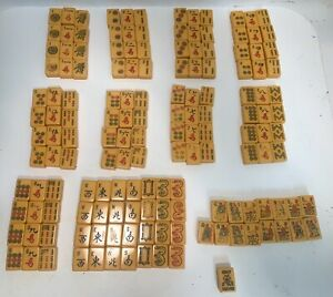 Antique Butterscotch Bakelite Mah Jong Jongg Mahjong  152 Tile Set ....Lowe ?