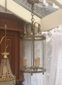 Antique Vintage French Lantern In Lovely Original Condition
