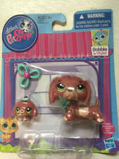 Littlest Pet Shop LPS #3601 #3602 Dachshund dog and Baby Puppy New