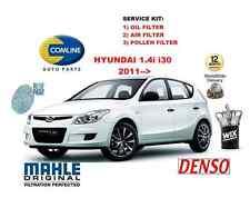 Para Hyundai I30 2011 -- & gt 1.4 me Estate Coupe Aceite Aire Polen Filtro Kit De Servicio