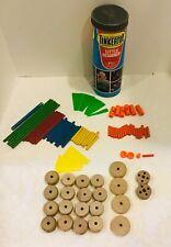 Vintage 1978 The Original Tinker Toys # 5126 Little Designer 90 of 95 pieces.