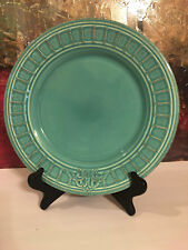 Matceramica Venice Teal Hand Made Portugal Lovely Embossed Dinner Dish Plate