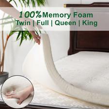 Soft Memory Foam Mattress Topper Pad Bedroom 2 Inch Queen King Twin Full Size US