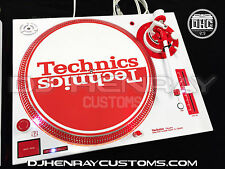 1 custom white & red Technic SL1200 MK5 w red halos, white/ red leds