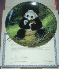 W S George Fine China Collectors Plate THE PANDA Boxed
