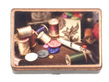 Dolls House Miniature 1:12th Scale Sewing Box With Accessories