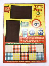 "VTG Unused Trade Stimulator Gambling 1000 Positive Prizes 12"" x 17"" Punch Board"