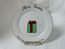 Merry Brite China Christmas Holiday Salad Plate Christmas Package 7-1/2""