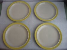 Stonecrest Sandpebbles Yellow JI 4 Dinner Plates Andre Ponche Royal Jackson #103