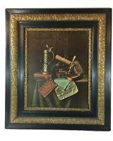 """William Harnett Munich Still Life Vintage Art Framed Print 16"""" x 20"""""""