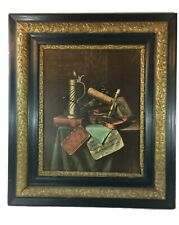 "William Harnett Munich Still Life Vintage Art Framed Print 16"" x 20"""