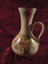 "Schumann Arzberg Bavaria Wild Rose Blush 8"" Tall Handled Vase"