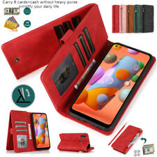 New Zipper Pocket Flip Leather Wallet Case For Sharp R5G Sense3 Plus basic lite
