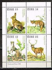 Ireland Forest Wild Animals set in block 1980 MNH
