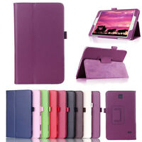 For Samsung Galaxy Tab 3 4 Tablet Slim Flip Leather Folio Case Stand Thin Cover
