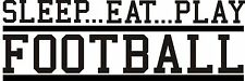 Football VINYL Wall DECAL art stickers lettering decor sports