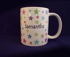 Personalised Coloured Stars - Coffee Mug - Thank You Teacher - Birthday - Gift