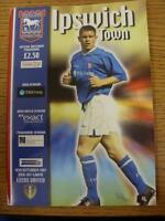 30/09/2001 Ipswich Town v Leeds United  (Worn On Spine, Light Fold)