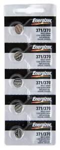5 pcs Energizer Watch Batteries 371 / 370 SR920SW SR920W