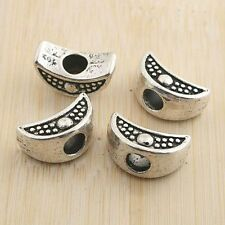 6pcs antiqued silver two sides moon spacer beads G1306