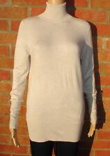 Zara Fine Knit Stone Coloured Rib Detail Poloneck Jumper Size L 12-14 BNWT