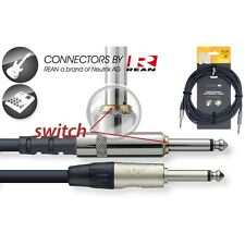 Stagg NGC3SW 1x Jack/1x Jack Instrument Cable w/Mute Switch 3 m [EU stock]