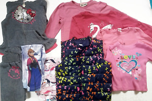 Huge Lot Girls 4T Clothes Disney Hello Kitty Pants Shirts Vest 10pcs Fall Winter
