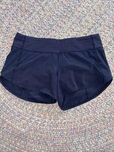 LULULEMON Run: Speed Shorts Navy -Size 6