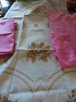 lot tissus assortis rose ,parme,fleurs===== 4m,30  en tout !!!