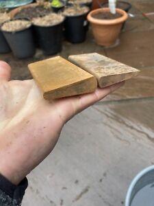 Pair Of Synthetic Slip Stones / Sharpening Stones