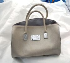 MICHAEL KORS Metallic silver Canvas Doctor Bag/ Handbag for Women