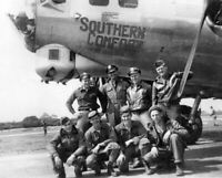 USAAF B17 Flying Fortress Southern Comfort Crew and Nose Art WW2 WWII 5 x 7
