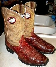 MENS 9 EE 2E Brown TONY LAMA TLX # XT5007 Bullhide Leather WESTERN BOOTS