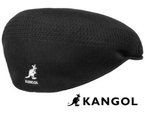 KANGOL CAP FLAT TROPIC VENTAIR CLASSIC HAT ICONIC LIGHT WEIGHT BLACK M NEW UK