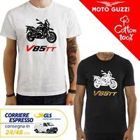 T-Shirt Moto Guzzi V85TT Guzzi uomo Maglia moto nera cotone 100% maglietta