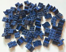 60 original LEGO technic part 6132157 Brick W. Plate 2X3X1 1/3 dark blue