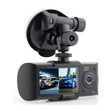 "R300 Dual Lens Dash Cam 2.7"" Car DVR Camera Video Recorder w/ GPS Module"