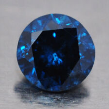 DIAMANTE NATURALE COLORE BLU CT. 0,23  IN BLISTER GEMMOLOGICO