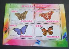 Rwanda 2013  Butterfly Butterflies sheetlet   unmounted mint um MNH