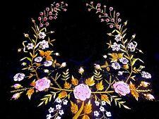 Antique Victorian Museum Quality RIBBONWORK Embroidered Silk Velvet Frame