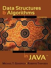 Data Structures and Algorithms in Java byTamassia & Goodrich HARDCOVER 5th Ed