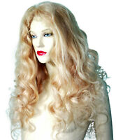 HUMAN HAIR Full Lace Wig Indian Remi Remy Blonde Mix #613/20 Curly Wavy