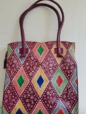 Leather bag Hand Tooled Painted Shantiniketan Ethnic Boho Shoulder Bag